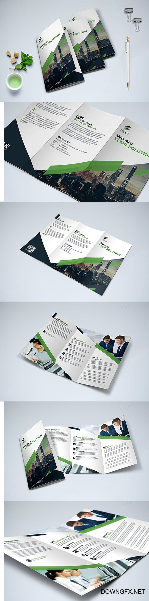Trifold Brochure INDD Template