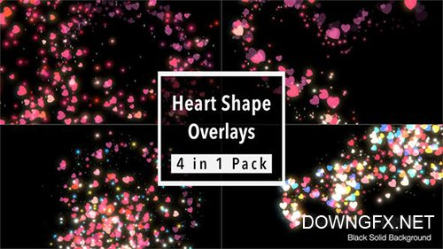 Heart Shape Overlays Pack 21667019