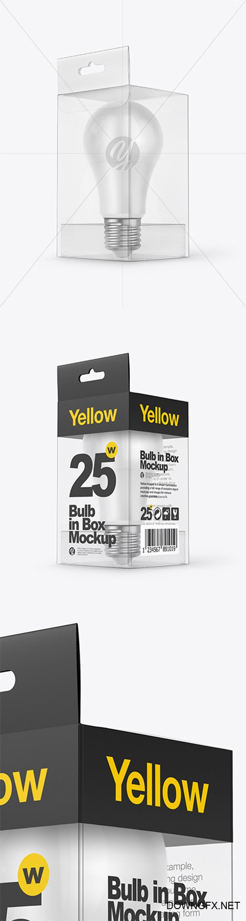 LED Bulb in Box Mockup 38655 TIF