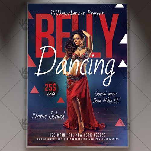 BELLY DANCING FLYER - PSD TEMPLATE