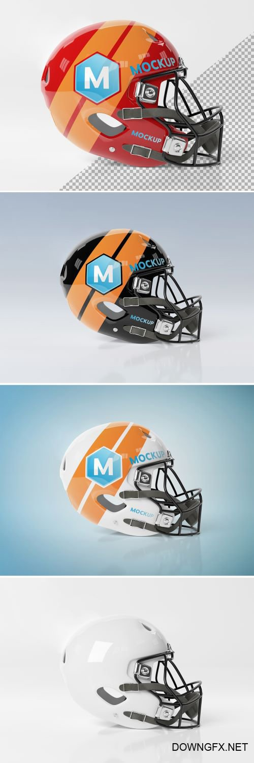 PSDT Isolated American Football Helmet Mockup 267840107