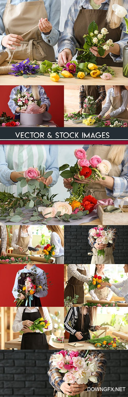 Florists creation of beautiful bouquet for sale