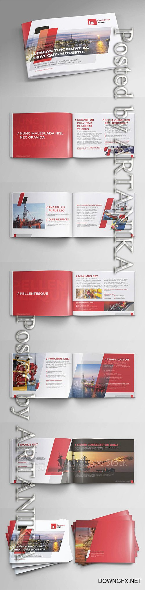 Offshore Oil and Gas Booklet Design 3609690