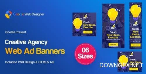CodeCanyon - C61 - Creative, Startup Agency Banners HTML5 Ad - GWD & PSD - 23919343