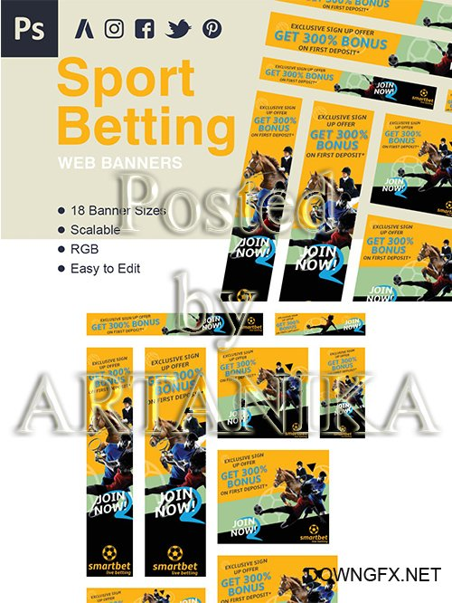 Betting Web Banner Ads
