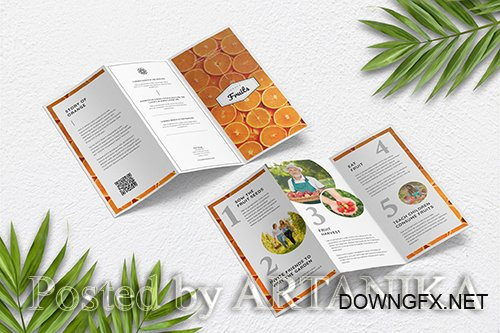 Fresh Food and Fruit Trifold Brochure