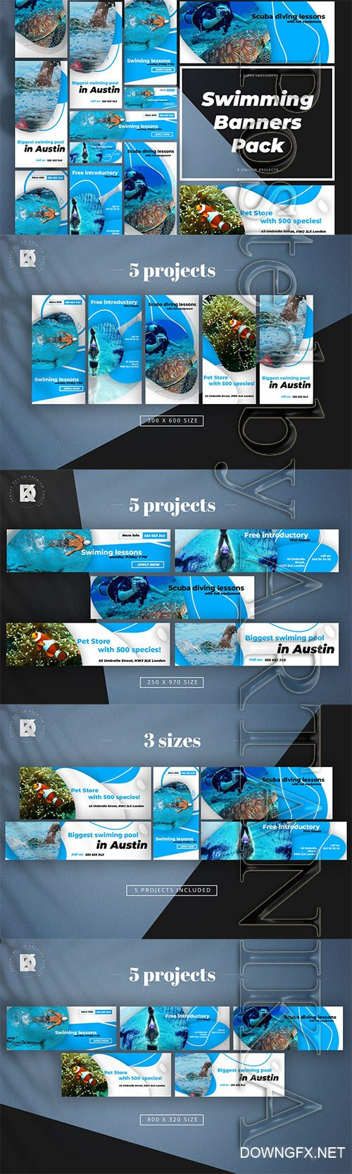 Swimming Banner Pack
