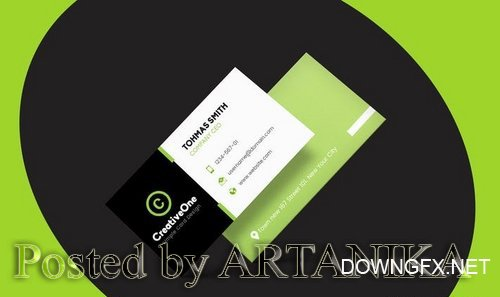 Business Visiting Cards Design PSD Template