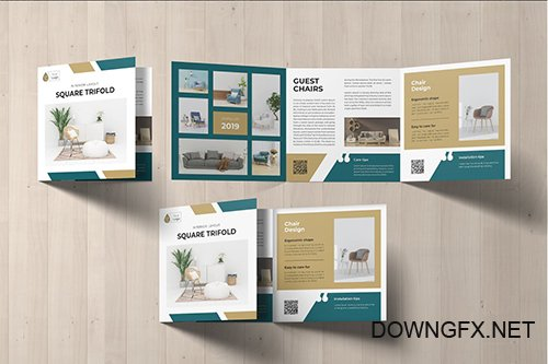 Square Trifold Furniture Brochure