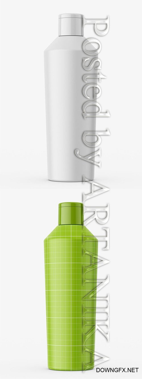 Universal Tapering Bottle / Matt Mockup