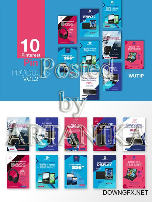 10 Pinterest Pin Banner - Products Vol 2