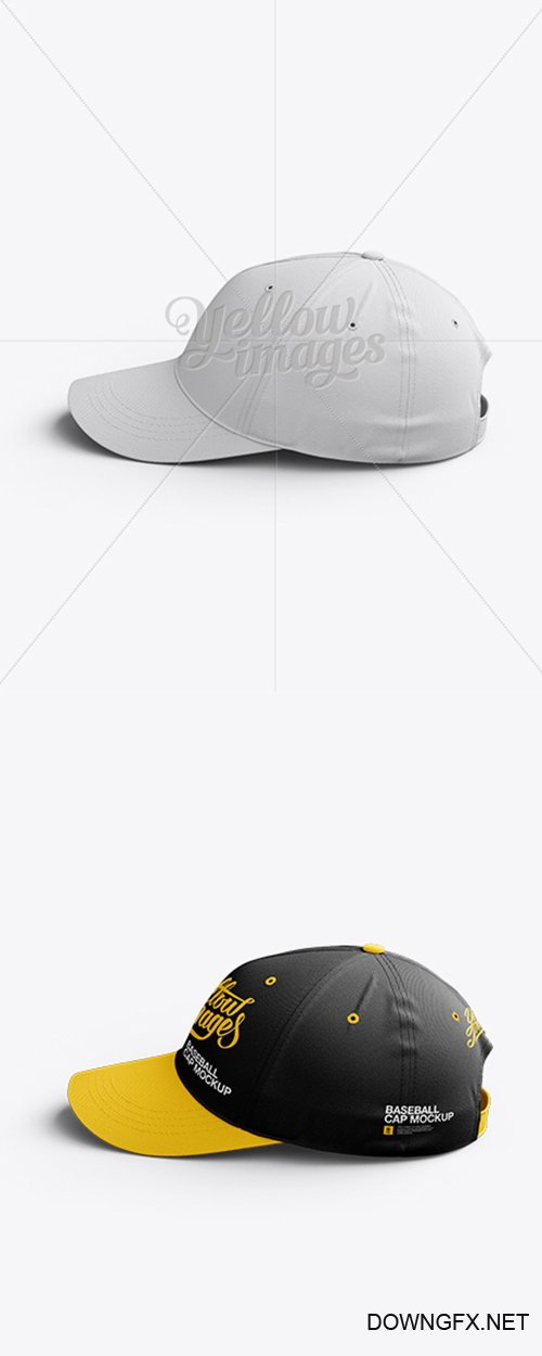 Baseball Cap Mockup / Side View 11110 TIF