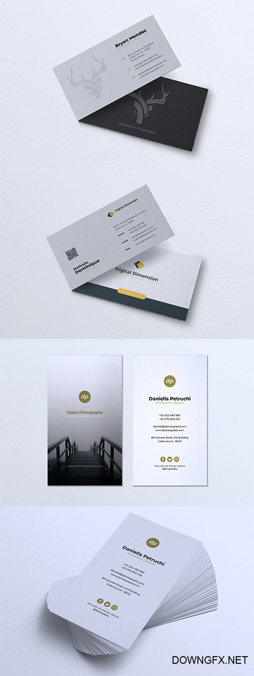 Minimalist Business Card PSD and Vector Set