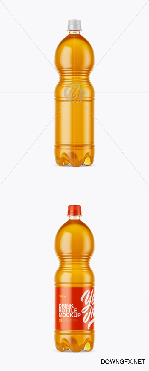 1.5L Clear Plastic Orange Drink Bottle Mockup 26609 TIF