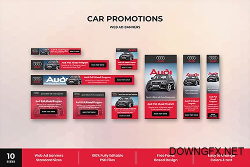 Car Promotions - Web Ad Banner Template
