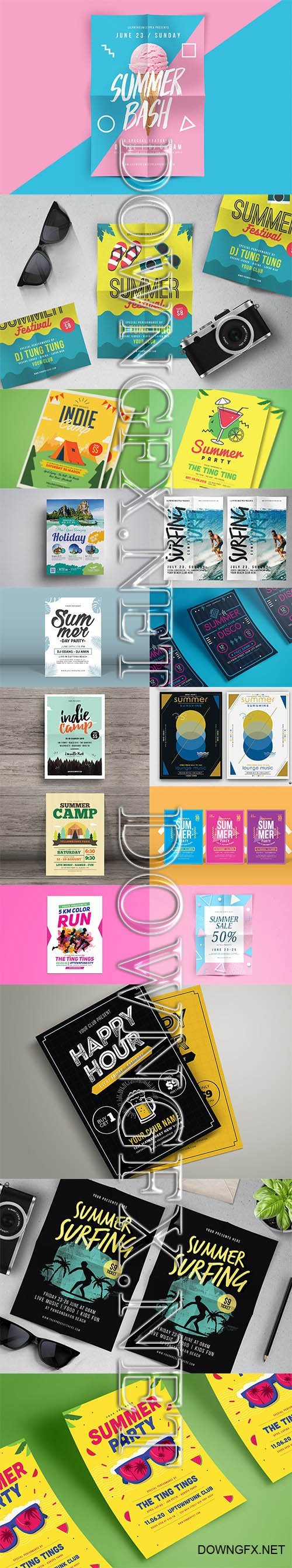 Summer Event Flyers Template Bundle 2019