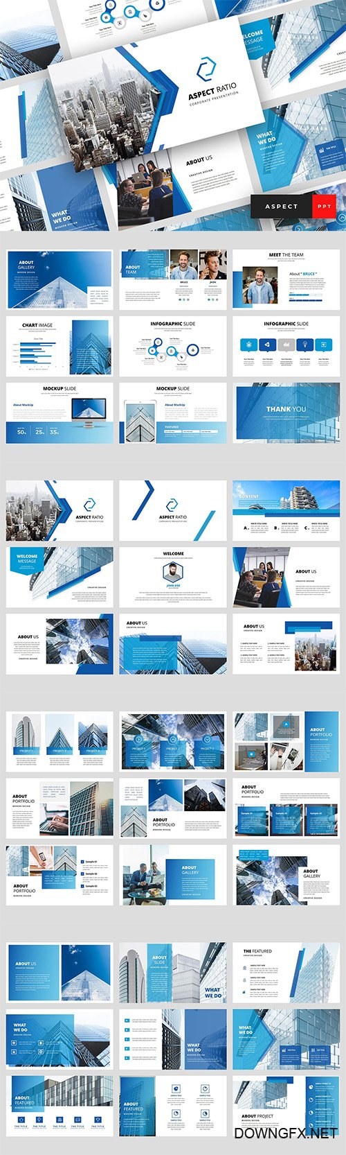 Aspect - Corporate Powerpoint, Keynote and Google Slides Templates