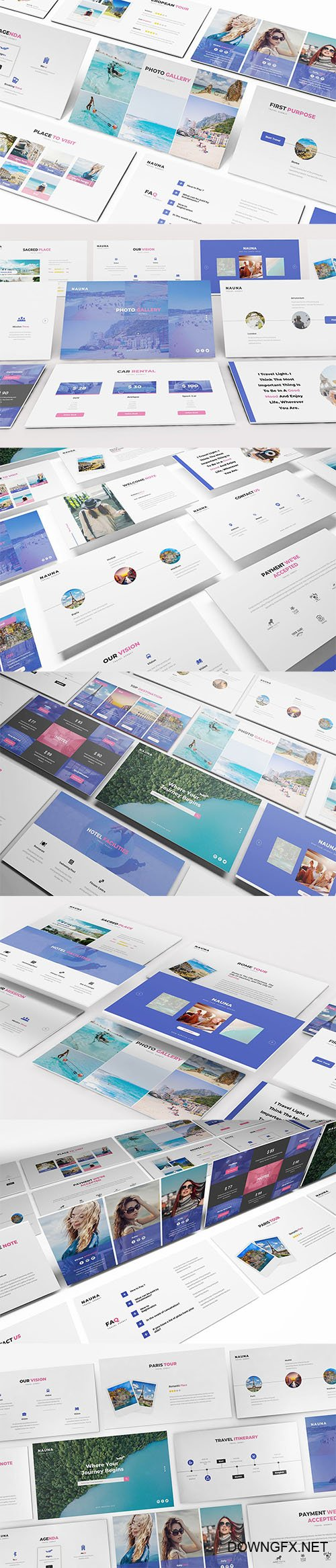 Nauna - Travel Agency Powerpoint, Keynote and Google Slides Templates