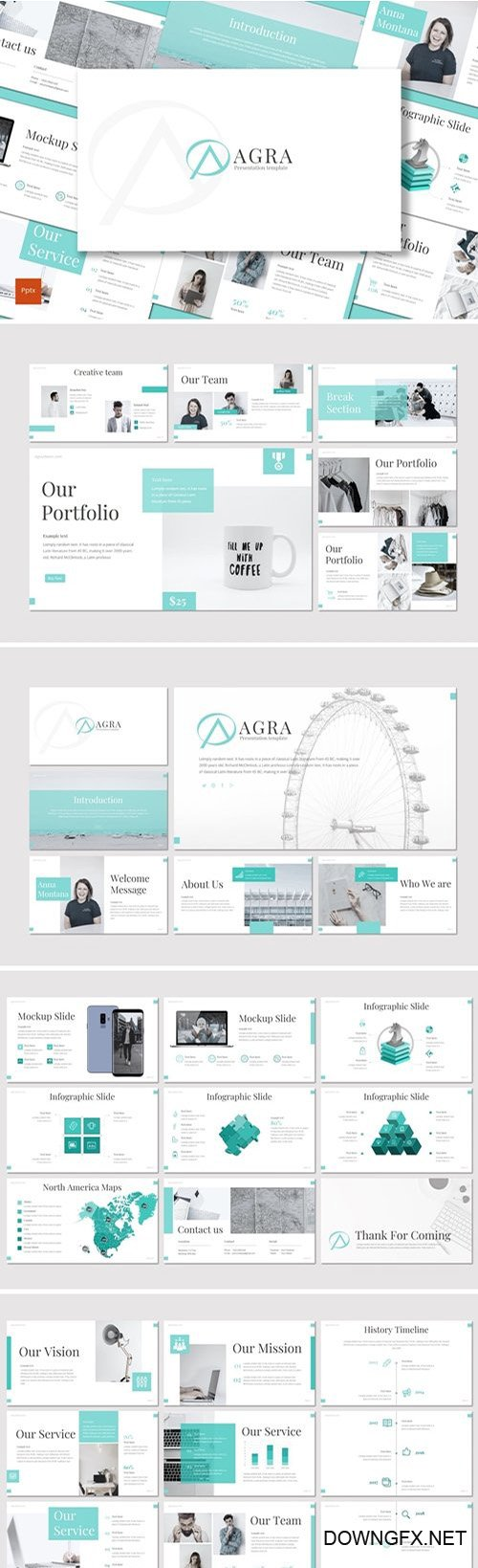 Agra - Powerpoint, Keynote and Google Slides Templates