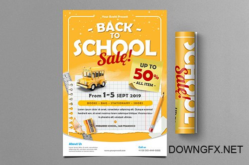 Back To School Sale Flyer
