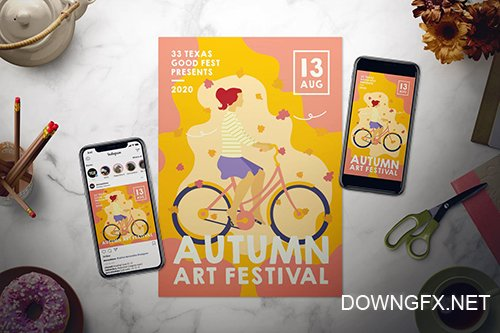 Autumn Festival Flyer Set