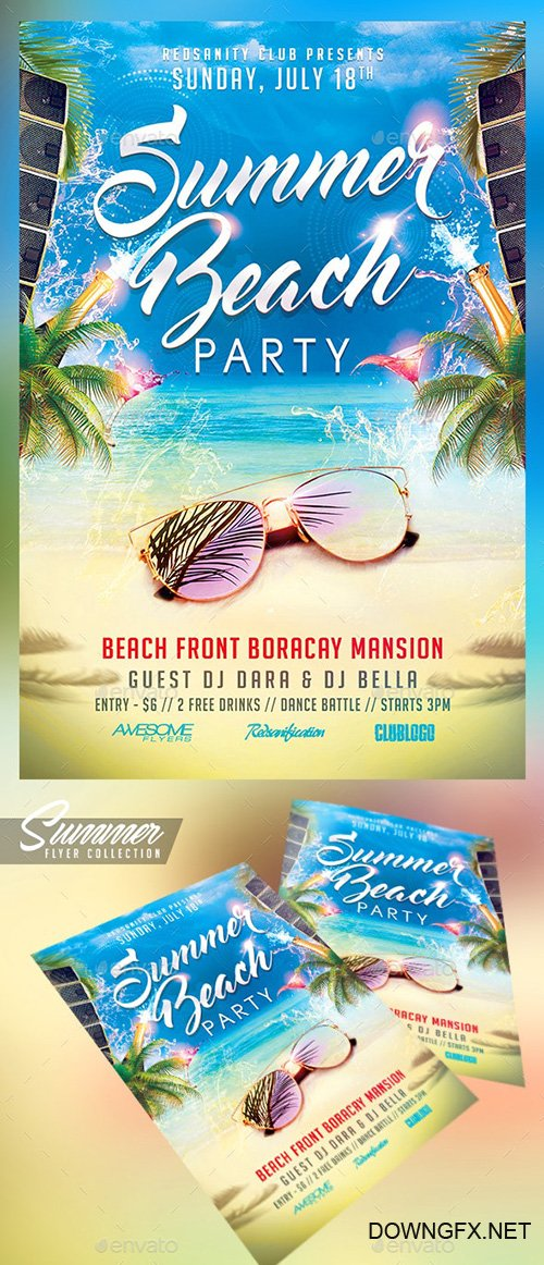 Summer Beach Party Flyer - 19922739