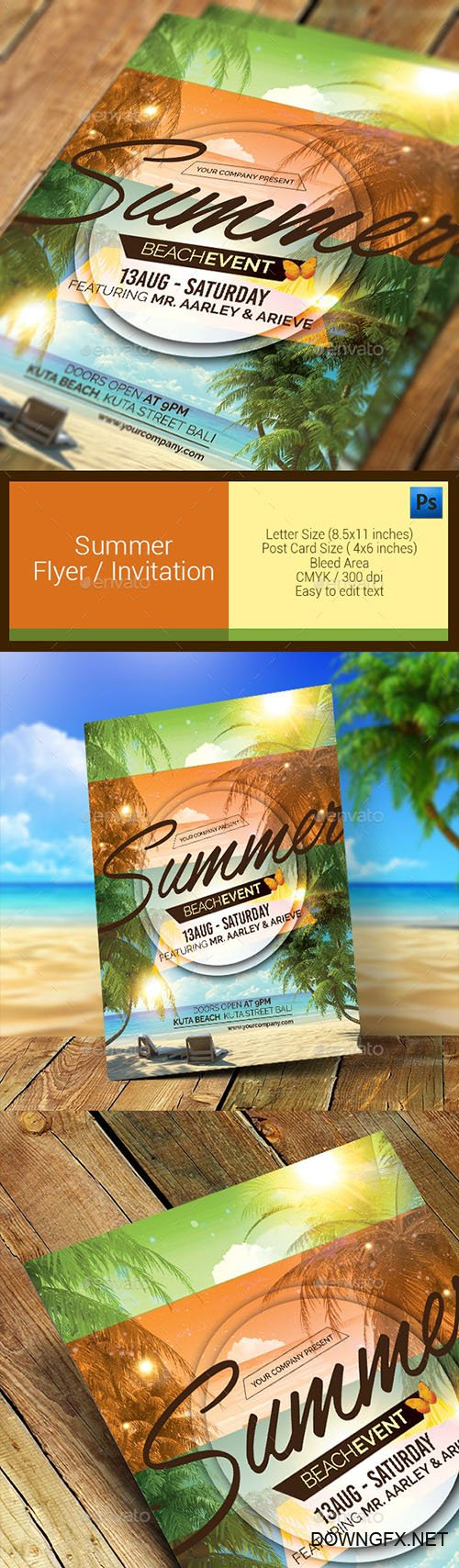 Summer Event Flyer / Invitation 11286637