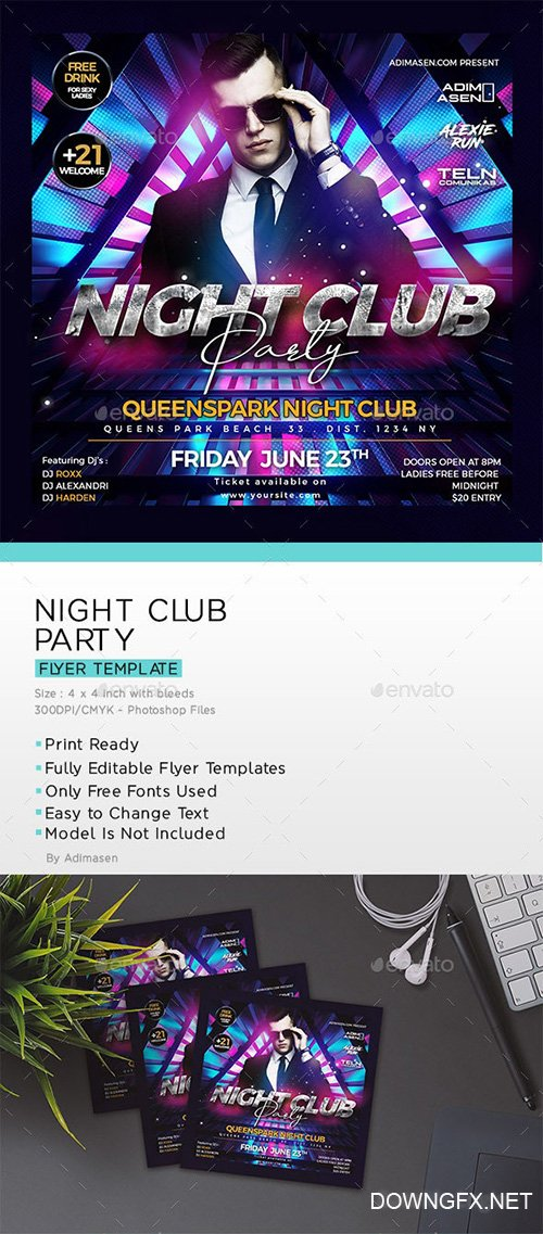 Night Club Flyer 23972037