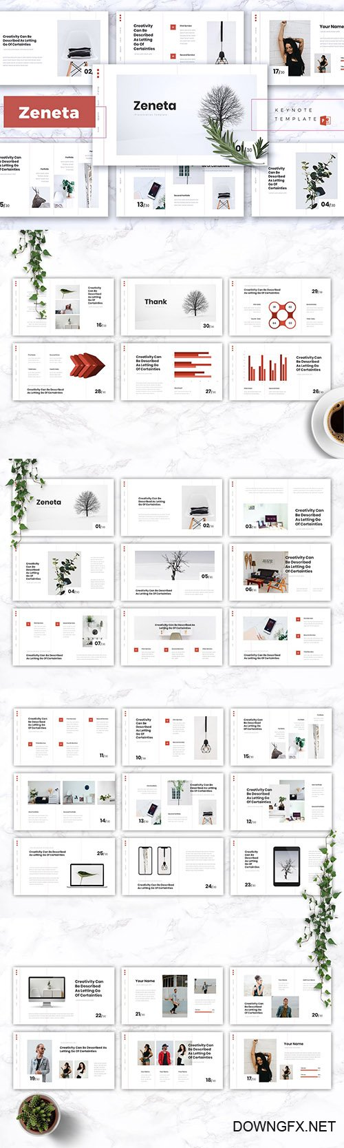 ZENETA - Creative Powerpoint, Keynote and Google Slides Templates