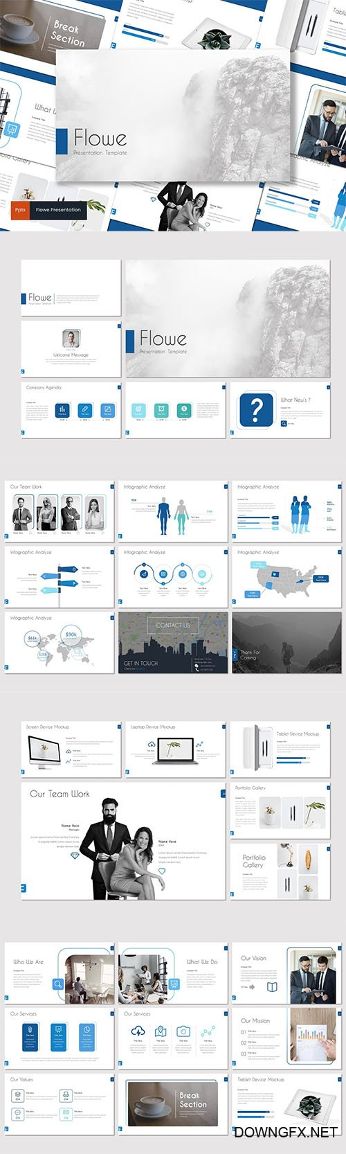 Flowe - Powerpoint, Keynote and Google Slides Templates