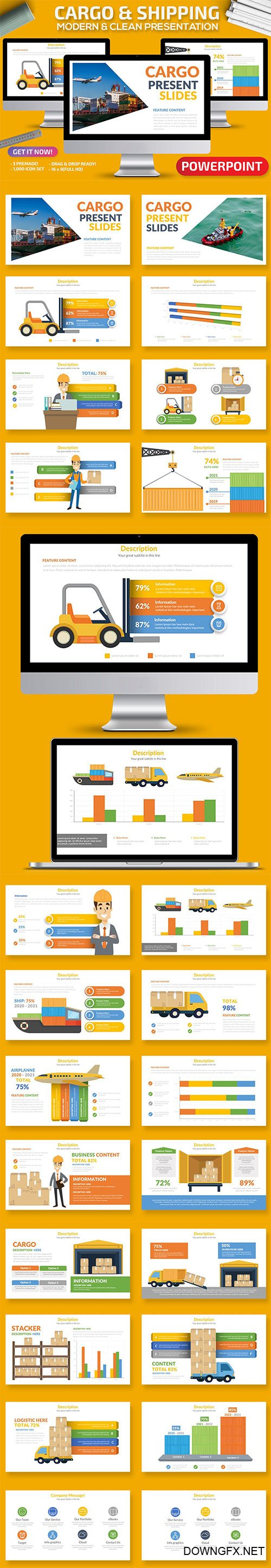 Cargo & Shipping Powerpoint and Keynote Presentation