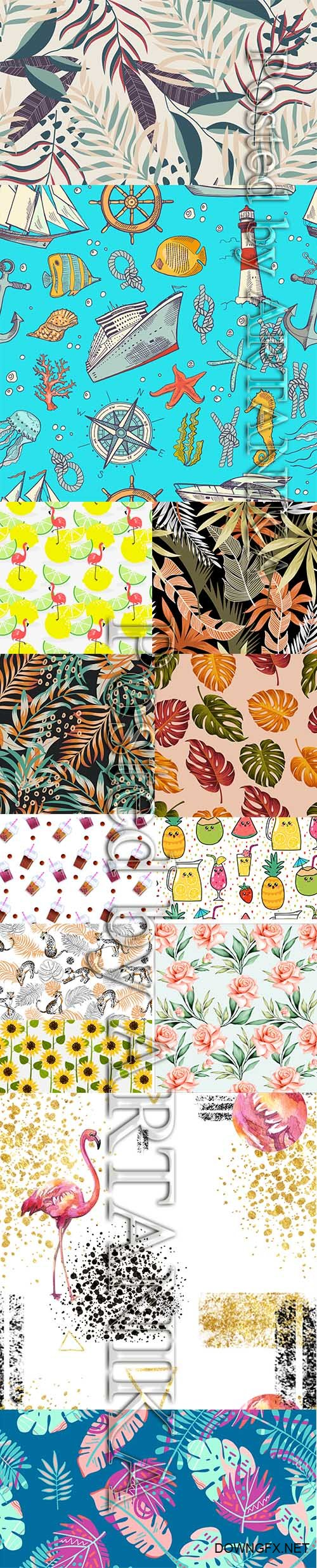 Beautiful Summer Seamless Pattern Pack