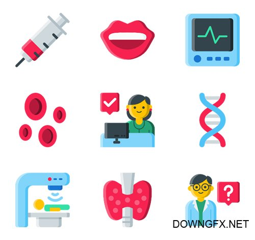 105 Medical and Health vector Icons