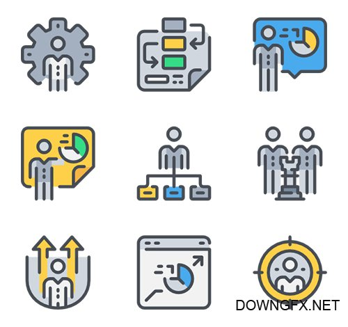 60 Business Strategy Vector Icons