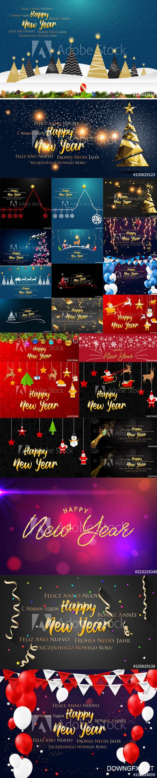 Happy New Year greeting card and Background with Christmas decoration AI