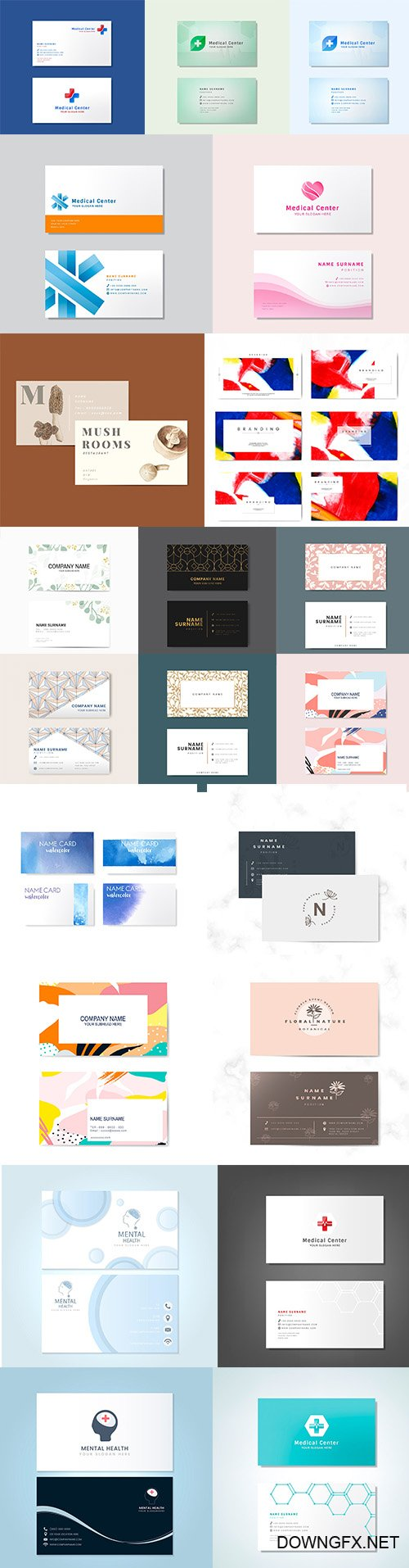 Professional Business Card Templates set vol7