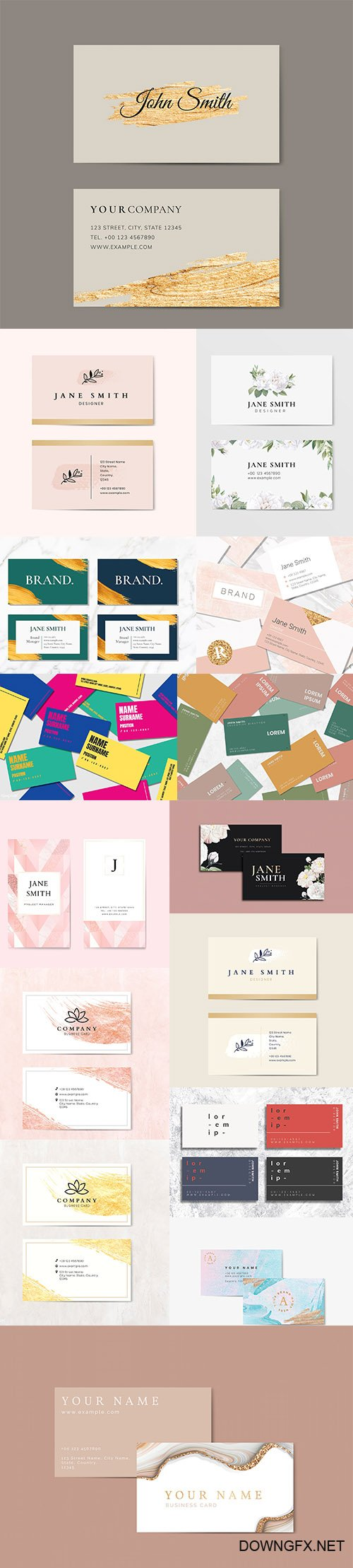 Professional Business Card Templates set vol5