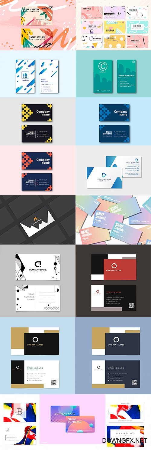 Professional Business Card Templates set vol6