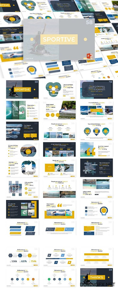 Sportive - Powerpoint, Keynote and Google Slides Templates