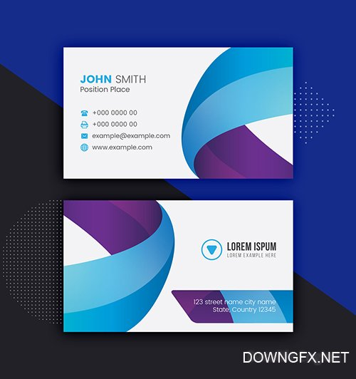 Blue and Purple Business Card Layout 281127335 AIT