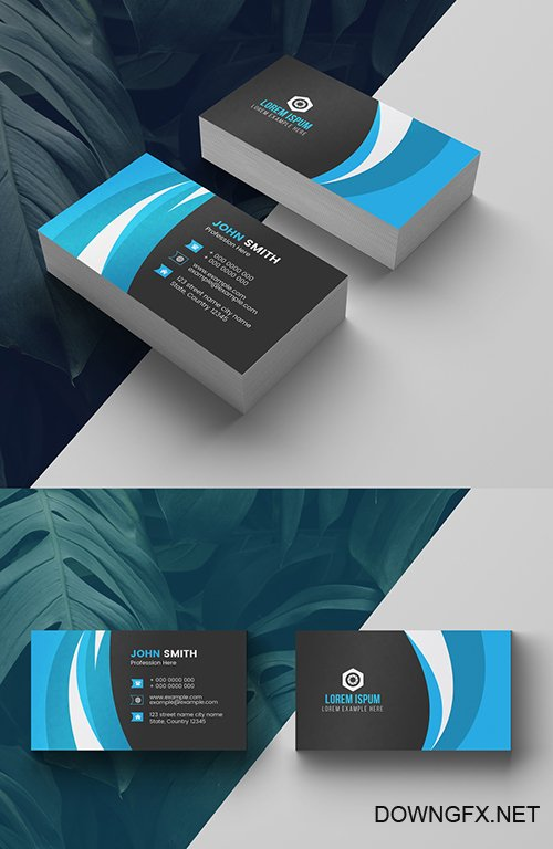 Blue Business Card Layout 277926642 AIT