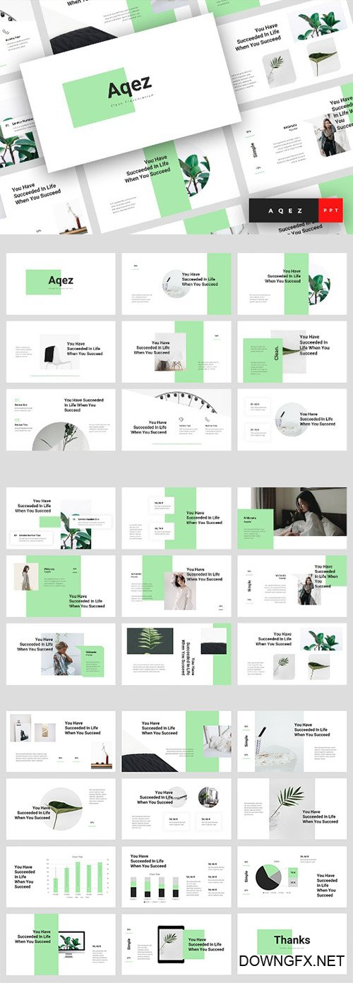 Aqez - Clean Powerpoint, Keynote and Google Slides Templates