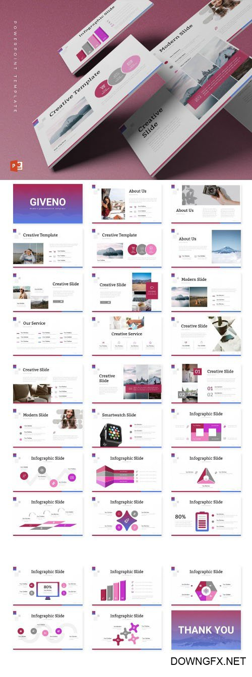Giveno - Powerpoint, Keynote and Google Slides Templates