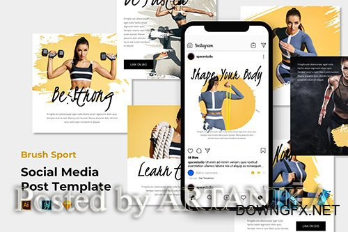 Brush Sport - Instagram Post/Feed PSD Template
