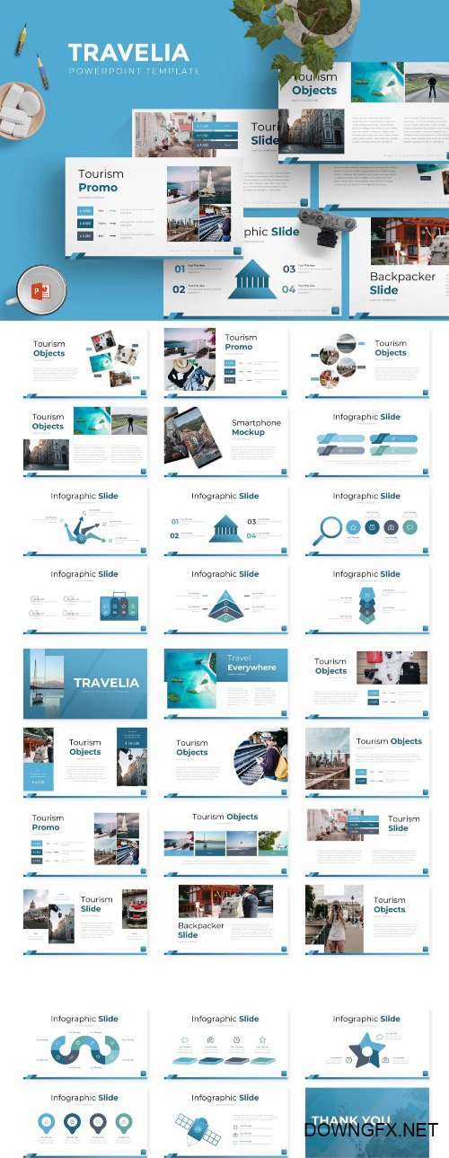 Travelia - Powerpoint, Keynote and Google Slides Templates