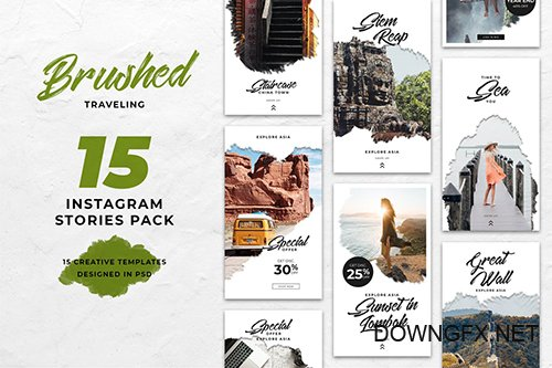 Travel Brush Instagram Stories PSD