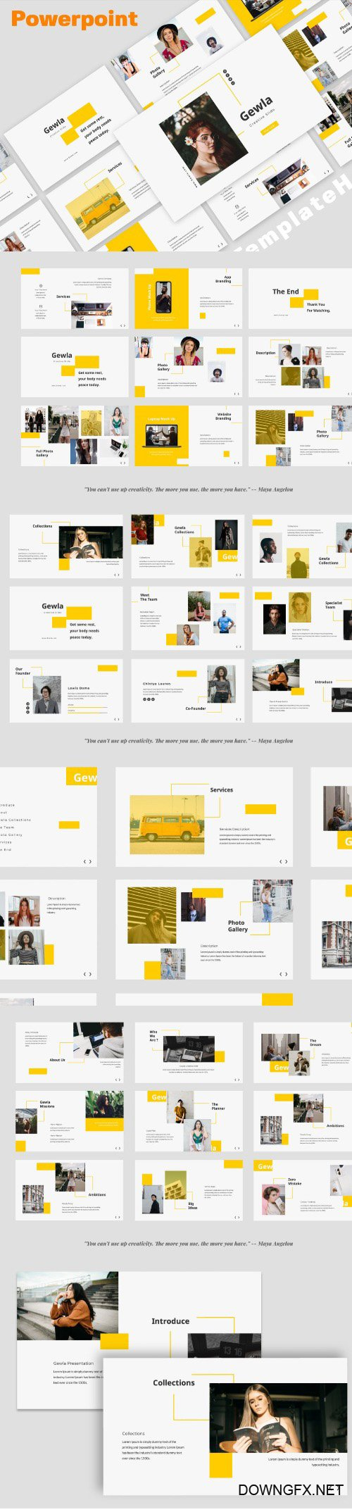 Gewla Creative Powerpoint, Keynote and Google Slides Templates