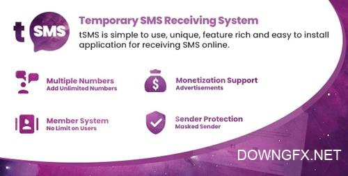 CodeCanyon - tSMS v1.0 - Temporary SMS Receiving System - Receive SMS Online - 23244962 - NULLED