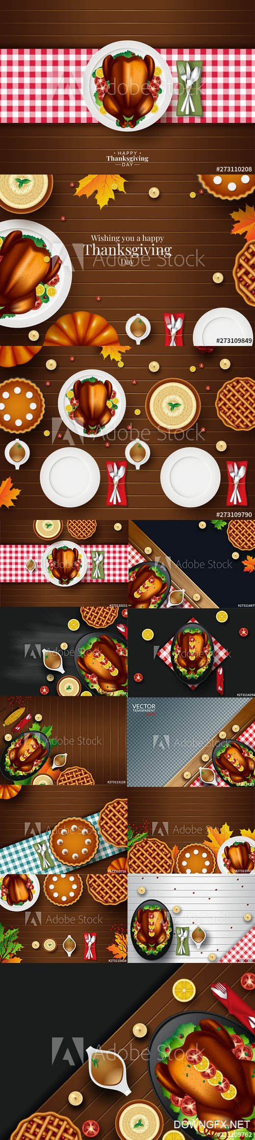 Thanksgiving Dinner Background Collection 3
