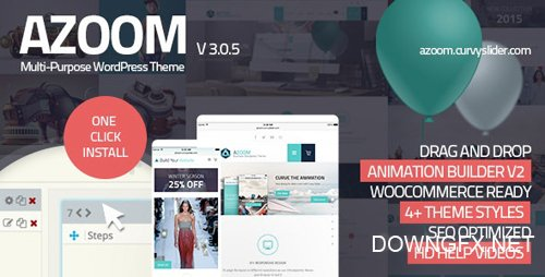 ThemeForest - Azoom v3.0.3 - Multi-Purpose Theme with Animation Builder - 10591289